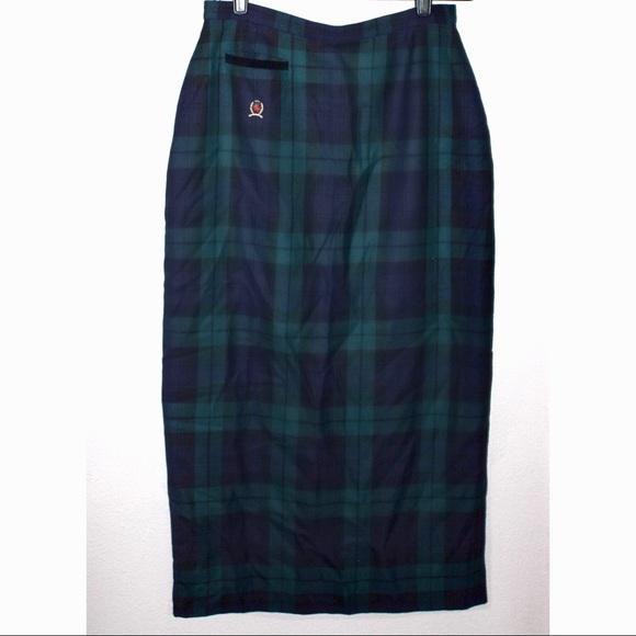 Tommy Hilfiger Dresses & Skirts - Tommy Hilfiger Wool Plaid Midi Pencil Skirt